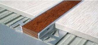 B72141313 Pro-Telo Wood 25 Alumino Brillante 12,5 Wenge 25x12,5