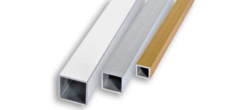 Progress квадрат алюминиевый анодированный матовый TQV10А серебро 10х10мм 2м