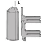 Угол внутренний для алюминиевого плинтуса 60мм RICTAA 60 серебро